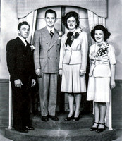 Betty Emhoff marries Paul Allan Apr 13, 1946. Joe and Ruth Miller stand up for them